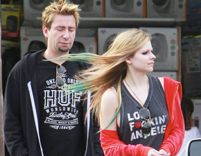 Fotos: Avril Lavigne e Chad Kroeger em Los Angeles