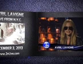 Avril te convida para assistir ao show online da 2live.com!